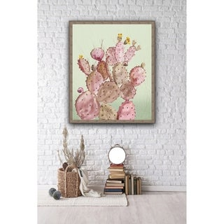 Pink Cacti Framed Canvas Wall Art