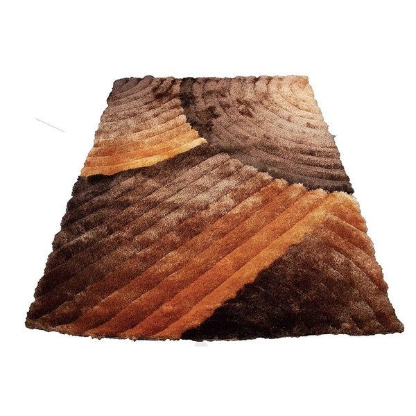 SAD 280 Orange Area Rug Carpet 3D Shaggy Shag - 8' x 10'