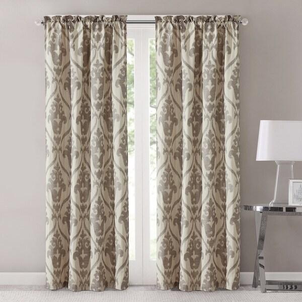 "Amrapur Overseas Sofia Jacquard Curtain Panel Pair - 42"" w x 84"" l"