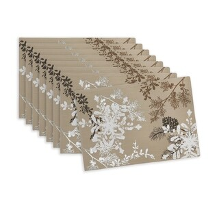 """Scenic Woodland 13"""" W x 19"""" L Placemats, Set of 8"""