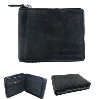 Faddism Massini Heritage Series Zip Around RFID Protection Wallet
