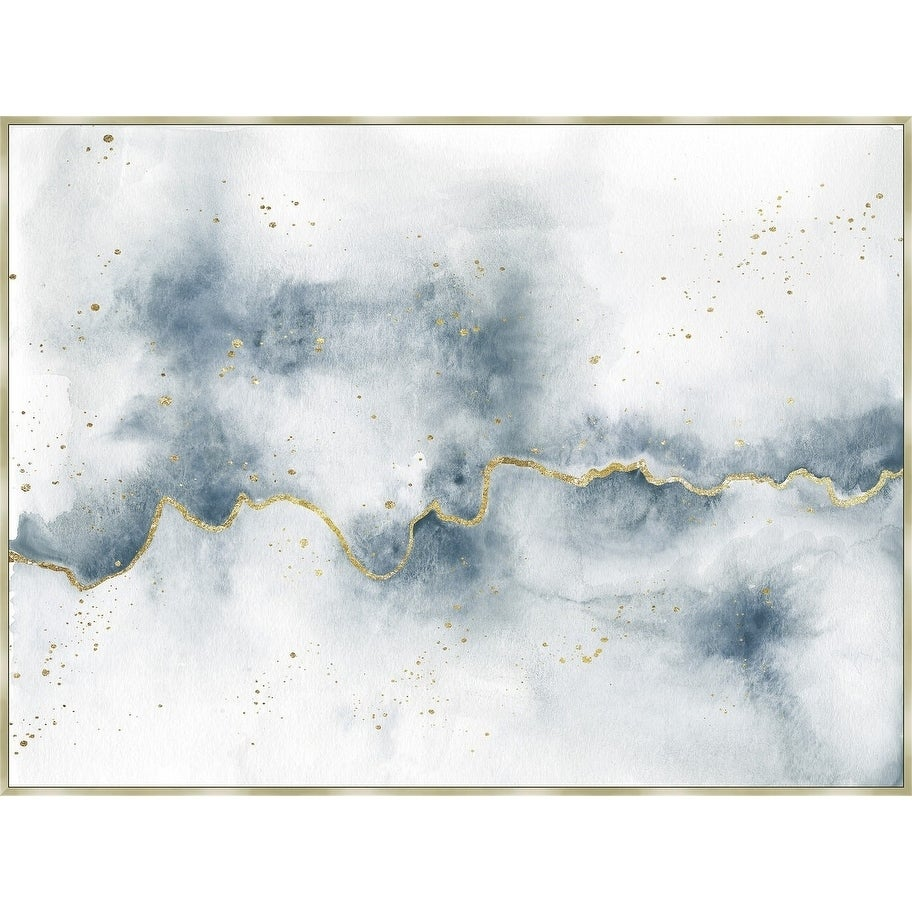 Flow With Gold Framed Canvas Wall Art On Sale Overstock 24239222