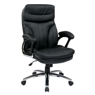 High-Back Executive Faux Leather Chair