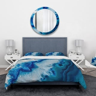 Designart - Geode Slice Macro - Abstract Duvet Cover Set