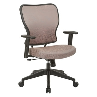 Deluxe 2 to 1 Mechanical Height Adjustable Arms Chair in Salmon Fabric
