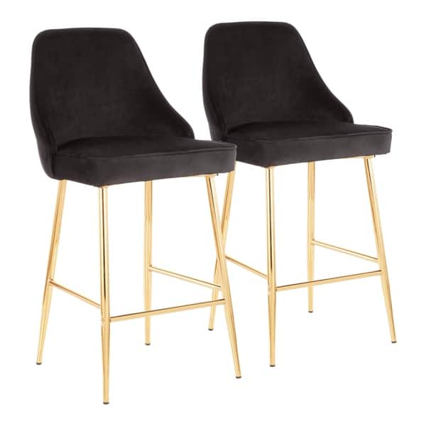 Strange Shop Lumisource Marcel Contemporary Glam Gold Counter Stool Bralicious Painted Fabric Chair Ideas Braliciousco