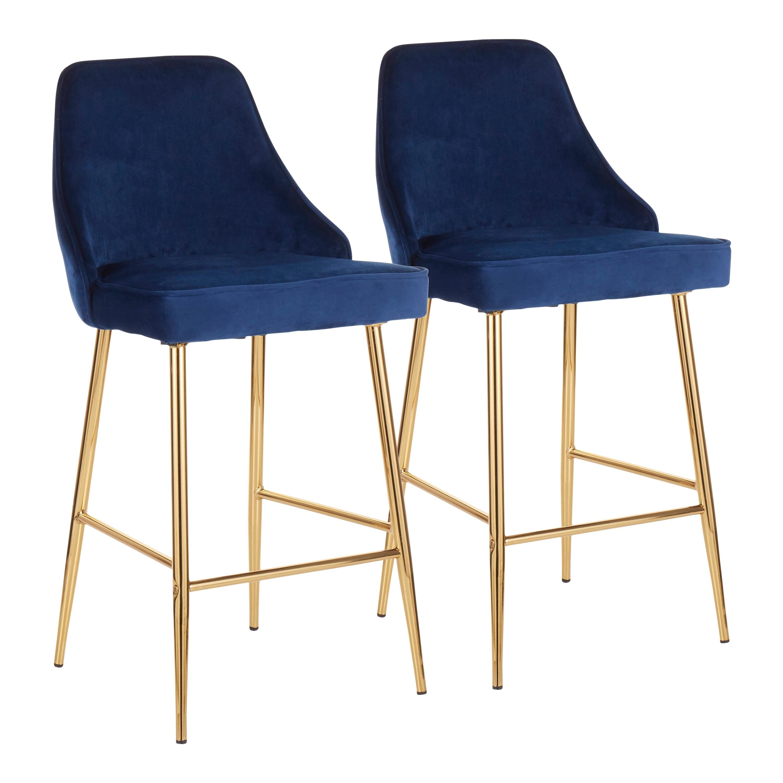 Prime Lumisource Marcel Contemporary Glam Gold Counter Stool Set Of 2 N A Inzonedesignstudio Interior Chair Design Inzonedesignstudiocom