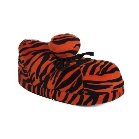 Orange Zebra Print Slipper