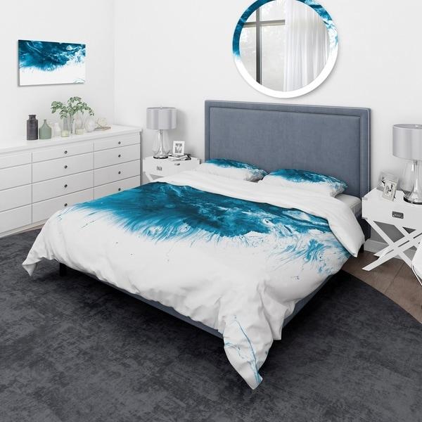 Shop Designart Blue And White Marble Acrylic Mid Century