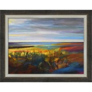 Canvas Art Framed 'Buttercups Near Warley' by Kate Boyce: Outer Size 27 x 21-inch