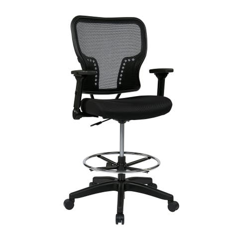 Deluxe Padded Mesh Seat Chair with 4-Way Adjustable Flip Arms