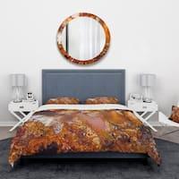 Designart 'Moss Agate abstract macro -Stone Bedding Set - Duvet Cover & Shams