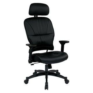 Bonded Leather Seat and Back Office Chair with Headrest
