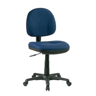 Work Smart Sculptured Task Chair without Arms