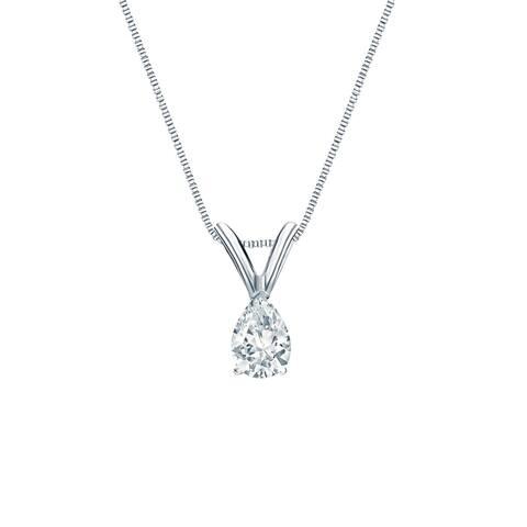 Auriya 1/4ctw Pear-cut Diamond Solitaire Necklace 14k Gold