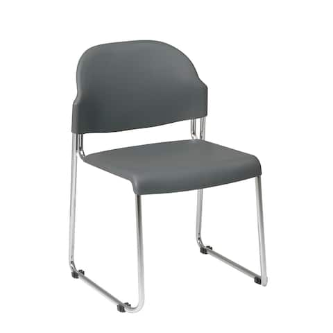 Work Smart Stack Chair with Plastic Seat and Back