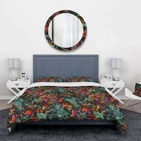 Designart 'Superimposed blend of Herbs Flowers Leaves and Berries' Abstract Bedding Set - Duvet Cover & Shams