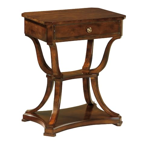 Hekman Furniture European Legacy Vintage, Transitional, Charming Style, Occasional Accent Side Table, Mesa Pequeña