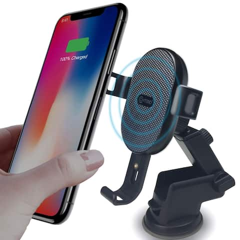 Contixo W1 Fast Wireless Charger Car Mount Holder 10W Qi-Compatible Charging for Cell Phones