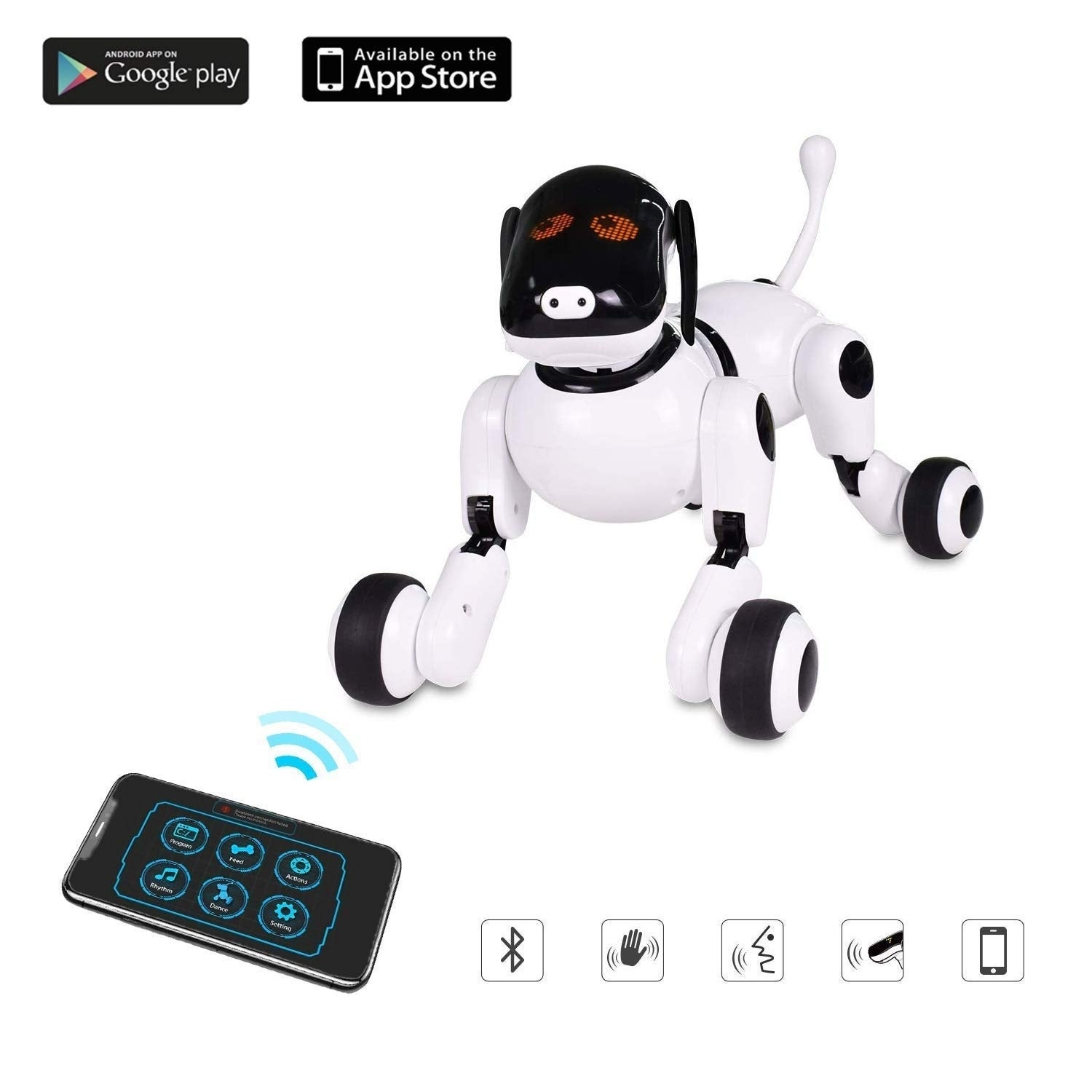 Puppy Smart Voice & App Controlled Kids Robot Dog Toy Interactive w/ Touch  Motion Control
