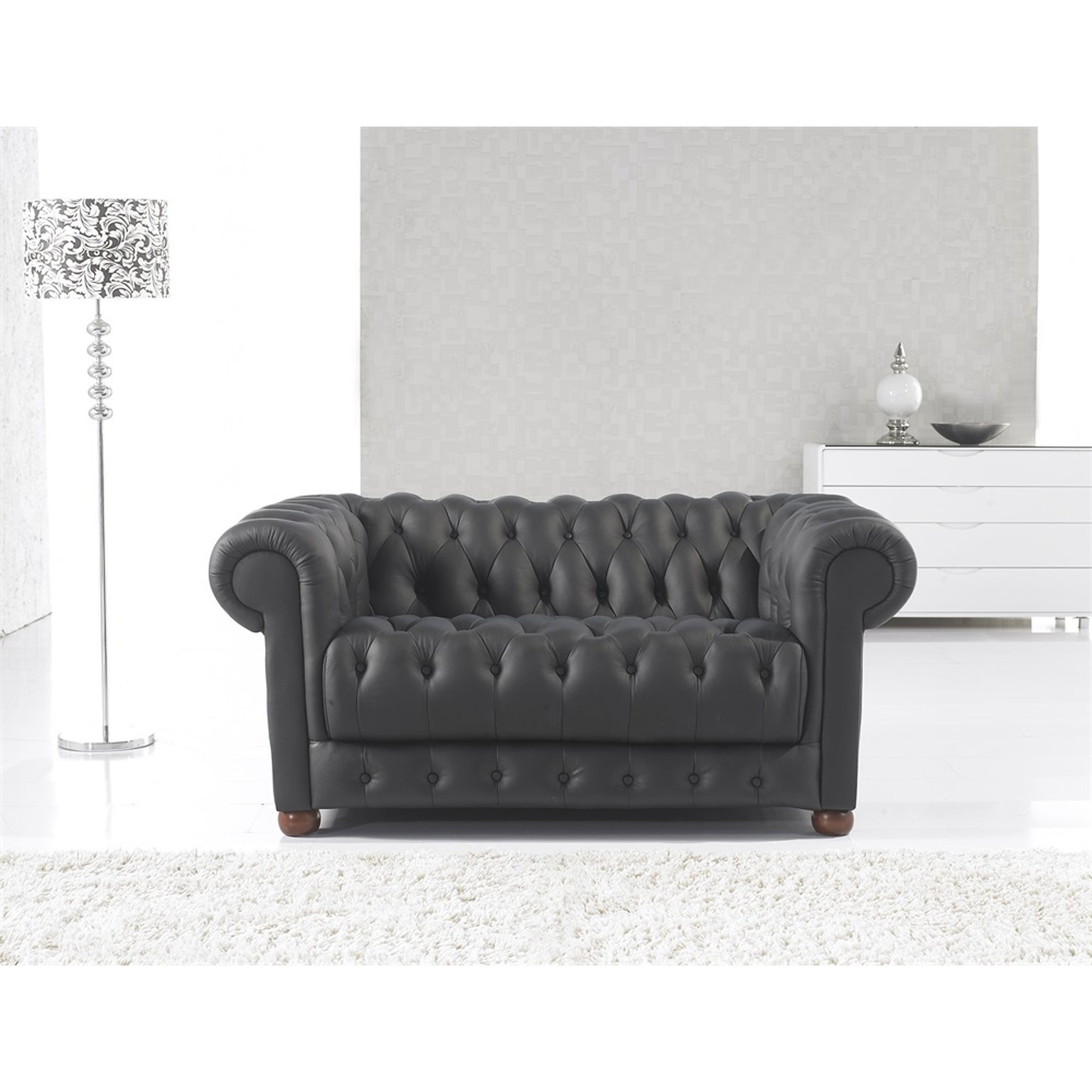 Shop Black Friday Deals On Matte Black Modern Contemporary Real Leather Configurable Living Room Furniture Set With Sofa Loveseat And Chair On Sale Overstock 24239956 Brown