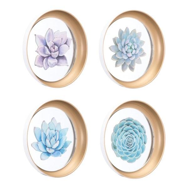 Set Of 4 Plates Multi - N/A