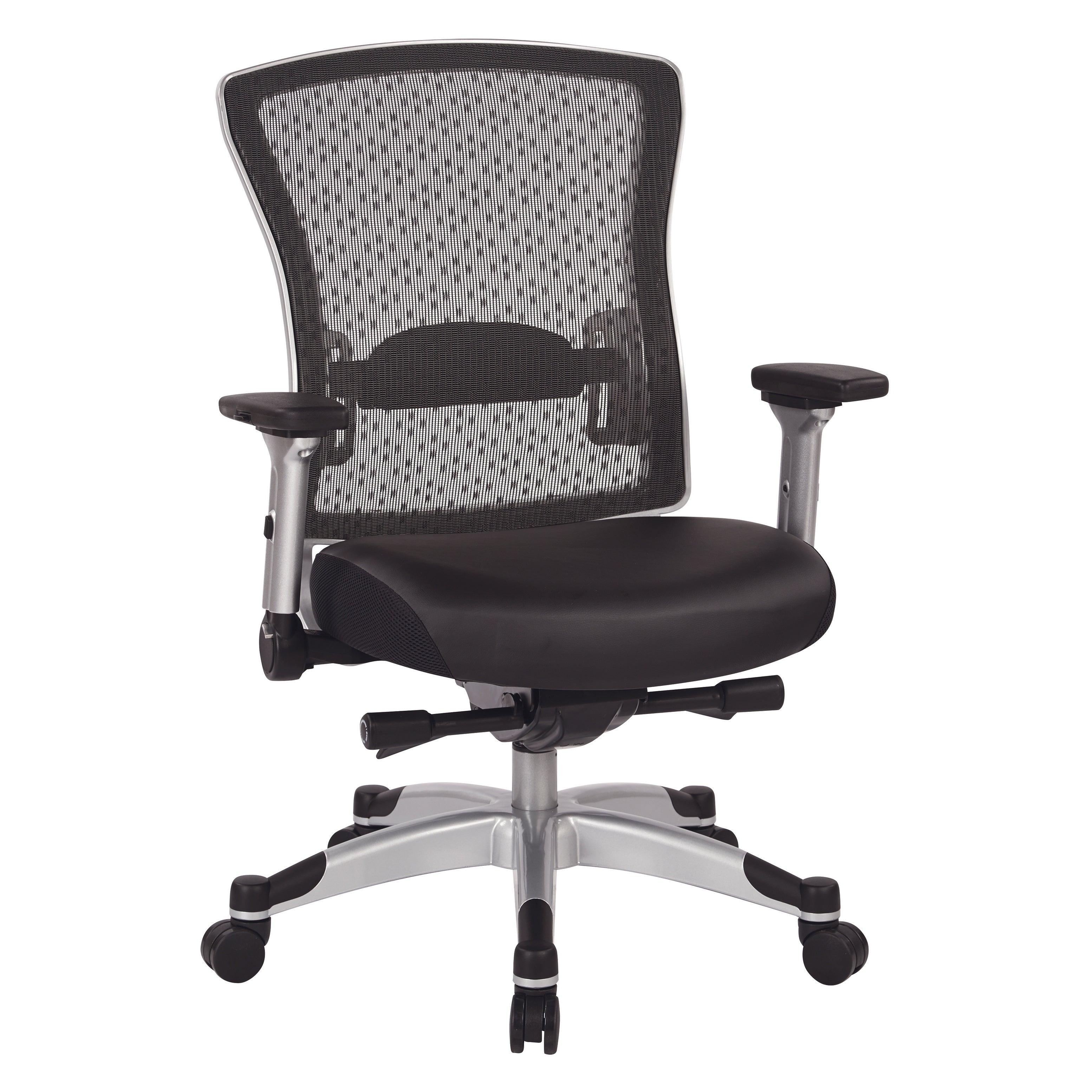 Picture of: Executive Breathable Mesh Office Chair With Memory Foam Seat And Flip Arms Overstock 24239987