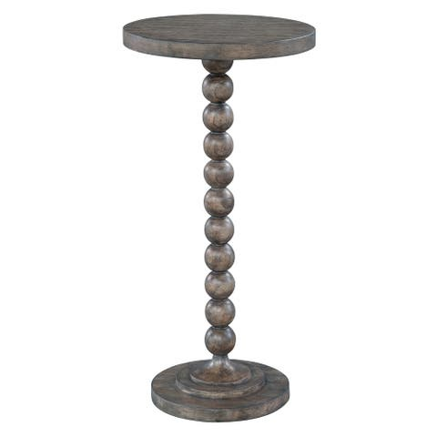 Hekman Furniture Lincoln Park Contemporary Modern, Glam, and Chic, Occasional Beaded Post Chairside Table, Mesa Pequeña