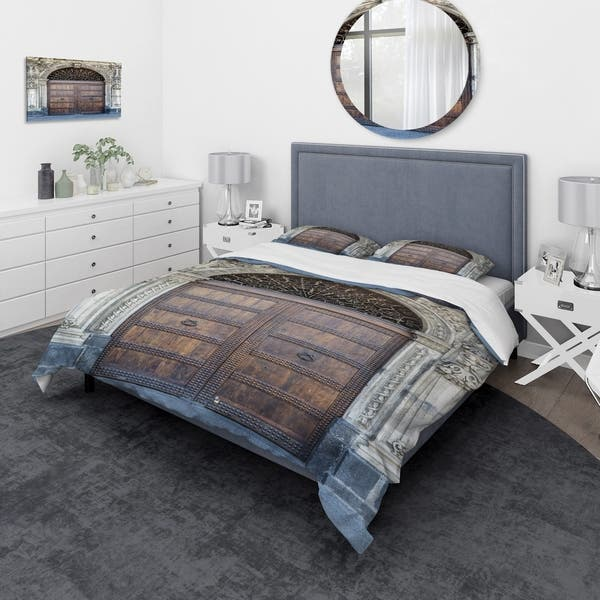 Designart Old Door In Catania Italy Vintage Bedding Set Duvet Cover Shams Overstock 24240183