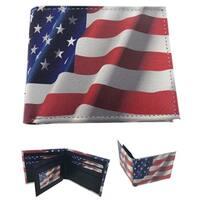 Faddism Patriot US Flag Bifold Wallet