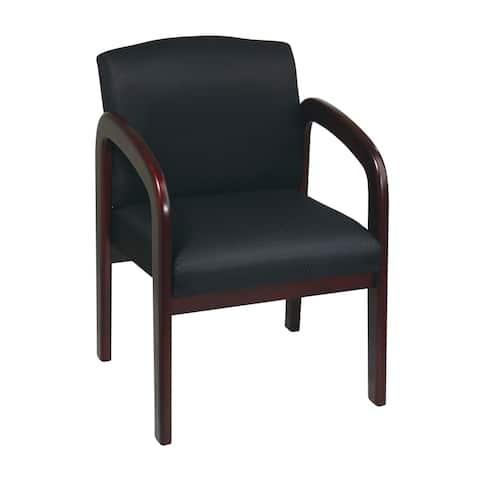 Mahogany Finish Wood Visitor Chair
