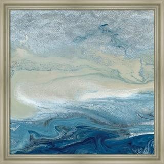 Canvas Art Framed 'Ocean Blue' by Wendy Kroeker: Outer Size 22 x 22-inch