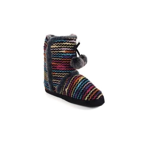 Multi Color Moccasin Boot Slipper
