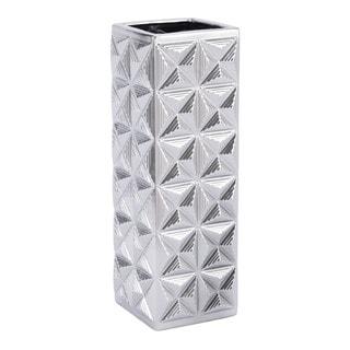 Cosmos Lg Vase Silver