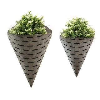Stratton Home Decor Set of 2 Olive Bucket Wall Planters
