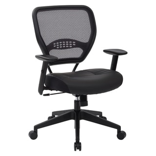 Professional Office Chair with Black Bonded Leather Seat