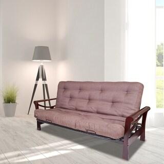 Serta Aspen Brown Cotton-blend/Steel Wrapped-coil Full-size Futon Mattress