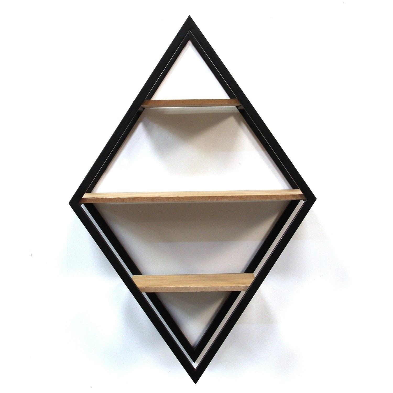 Stratton Home Decor Diamond Shelf Wall Decor Black N A 7477135203133 Ebay
