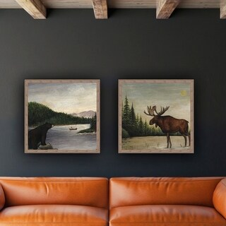 North Woods Bear II Framed Canvas Wall Art