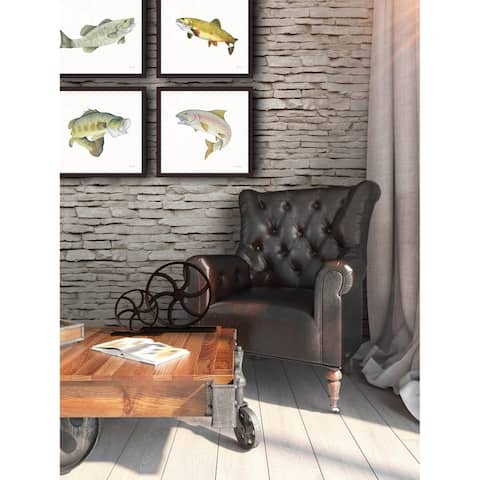 Gone Fishin Large Mouth Framed Canvas Wall Art