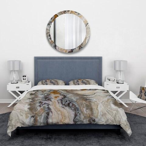 Designart 'Onyx detail Composition' Mid-Century Modern Bedding Set - Duvet Cover & Shams
