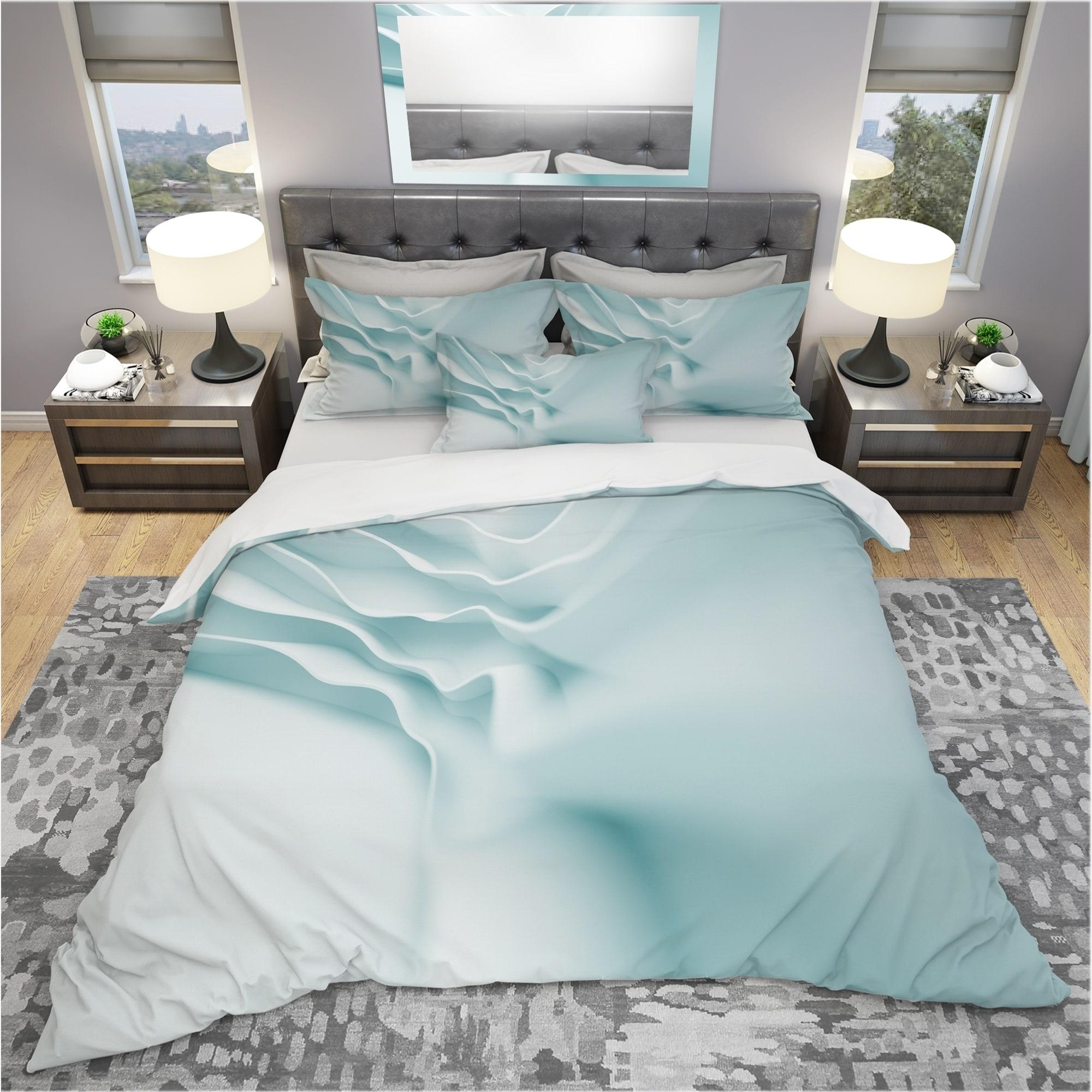 Designart 3d Light Blue Abstract Architecture Modern Contemporary Bedding Set Duvet Cover Shams On Sale Overstock 24240710