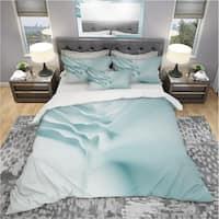 Designart '3D Light Blue Abstract Architecture' Modern & Contemporary Bedding Set - Duvet Cover & Shams