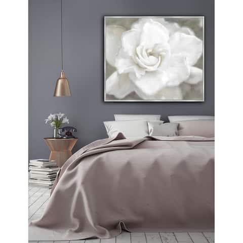 White Rose Framed Canvas Wall Art