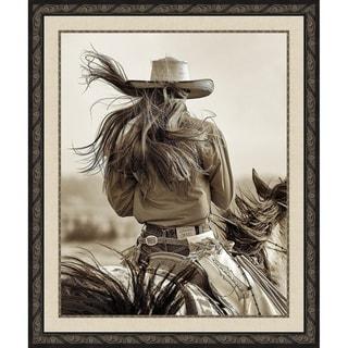 Cowgirl Framed Canvas Wall Art