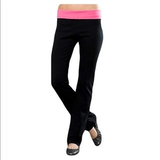 Sami Collection Women's Contrast Fold Over Yoga Pants