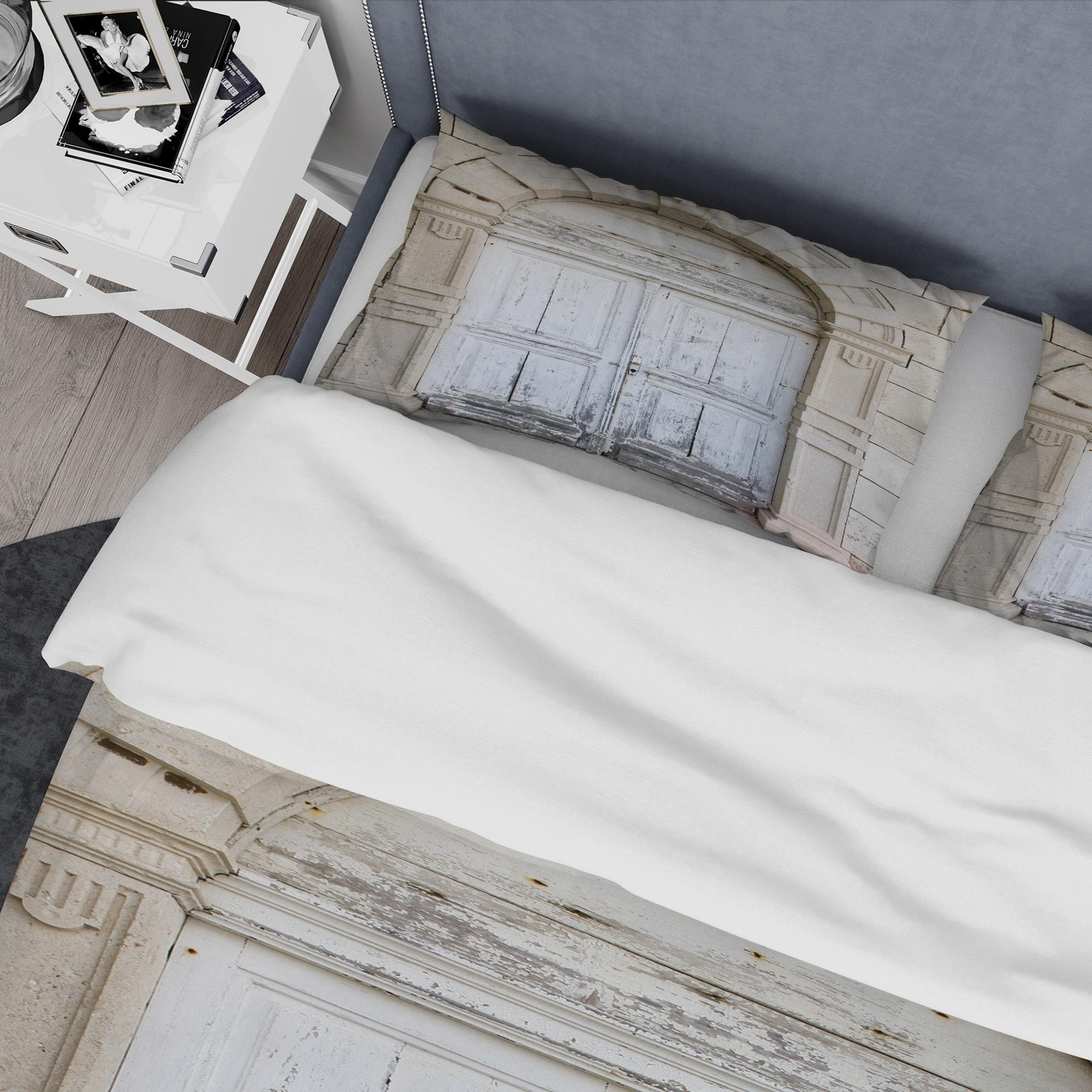 Designart Vintage Italian Door Vintage Bedding Set Duvet Cover Shams Overstock 24240853