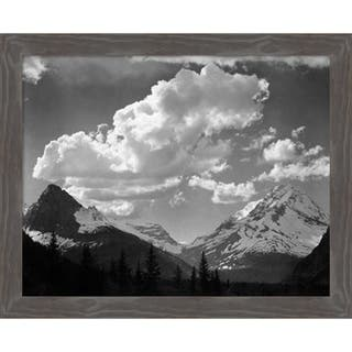 Canvas Art Framed 'Trees in Glacier National Park, MT - 1941' by Ansel Adams: Outer Size 27 x 22-inch