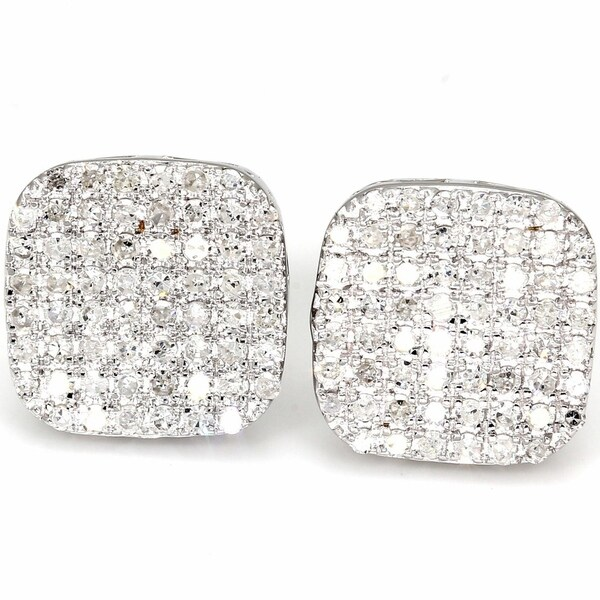 Shop Pompeii3 10k White Gold 3/4 Ct TDW Diamond Cushion