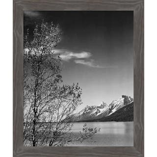 Canvas Art Framed 'View of mountains, Grand Teton National Park, WY, 1941' by Ansel Adams: Outer Size 21 x 25-inch
